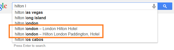 hilton-london-google-autocomplete