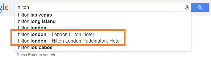 hilton-london-google-autocomplete